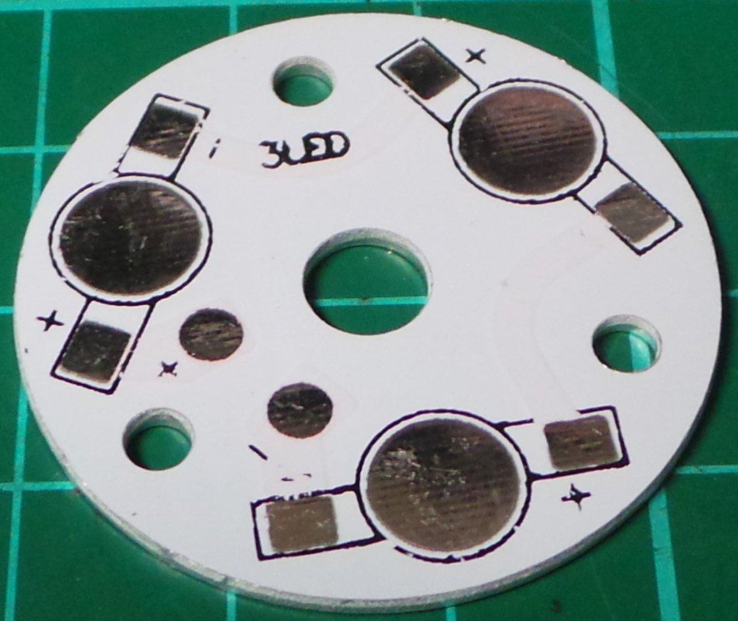 Led Heatsink For 3 Leds Aluminium 35mm 1w 3w 5w Circuit Series X In Dsmcz