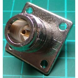 N Type connector, male, Panel Mount