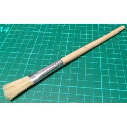 Brush, Flat Head, Natural Bristle, Size 2 (13mm x 5mm x 29mm bristles)