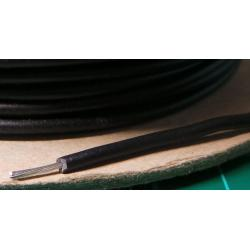 22AWG, 0.5mm2, Stranded, PVC, 85deg, Black