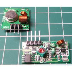 433Mhz RF Transmitter and Receiver Link