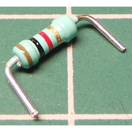 Resistor, 1K, 5%, 0.25W, Formed Legs