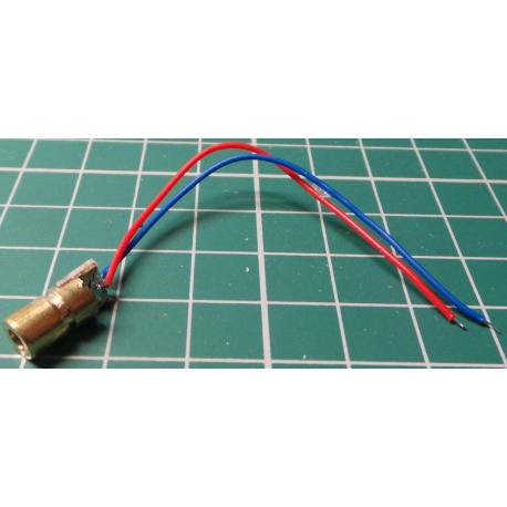 Laser Module, Red , 5mW, 4.5V