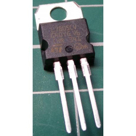 Voltage Regulator, 7805, 5V, 1A
