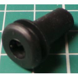 Grommet with Strain Relief, for 9mm hole, 6mm bore, 13mm x 21mm