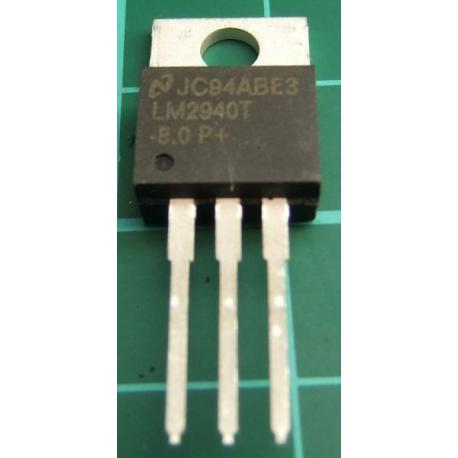 LM2940T-8.0, 1A, 8V Low Dropout Regulator