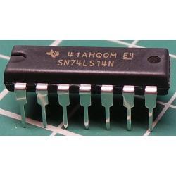 74LS14N, Hex Inverter