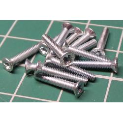 Screw, M2x12, Countersunk Head, Pozi