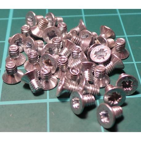 Screw, M2,5x4, Head Counersunk