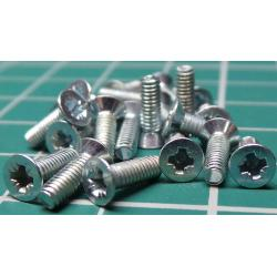 Screw, M2.5x8, Countersunk Head, Pozi