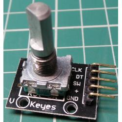 Rotary Encoder Module, 360 Degree, With Push Button, KY-040