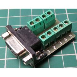9 Pin, D Type, Female, terminal Module, breakout Box