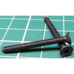 Screw, M3x30, Countersunk Head, Hex, Black Finish