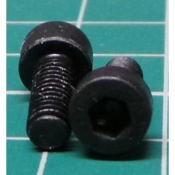 Screw, M4x10, Cheese Head, Hex, Black Finish