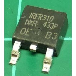 IRFR310, N Channel Mosfet, 400V, 1.7A, 25W, SMT