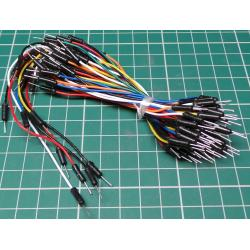 65 x Mixed Color Male to Male Breadboard Jumper wires, various lengths