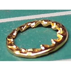 Toothed Washer, M5, 7mm Diameter, Gold Plated