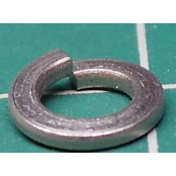 Split Washer, M4, 7mm Diameter