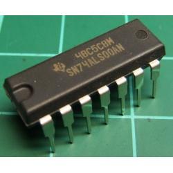 7400, SN74ALS00AN, quad 2-input NAND gate