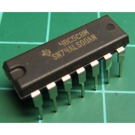SN74ALS00AN, quad 2-input NAND gate