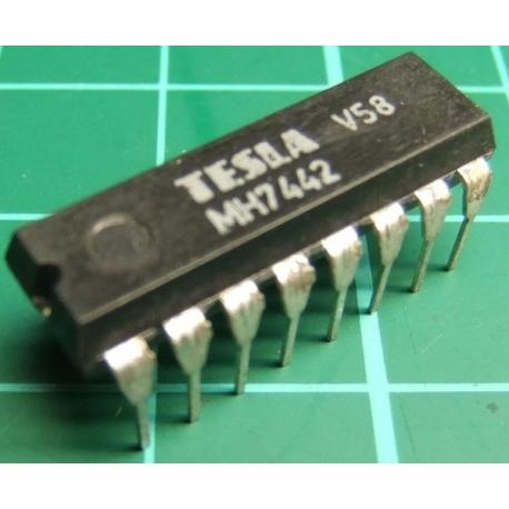 MH7442, TESLA, BCD to decimal decoder