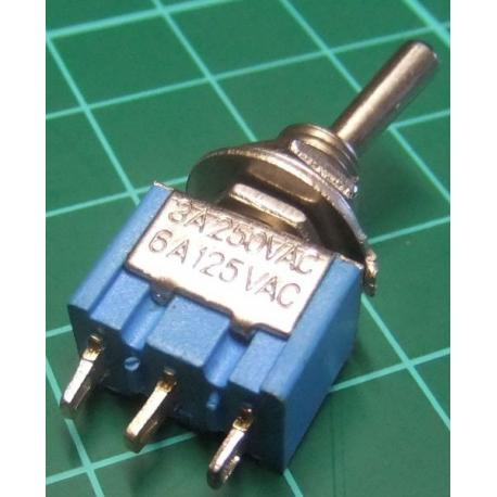 Switch, SPDT, 3 Position, Toggle, 250V, 3A