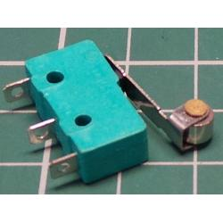 Microswitch, SPDT, 250V, 5A, with 17mm lever