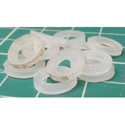 Insulating Washer, M5, 9mm Diameter, 0.8mm thickness
