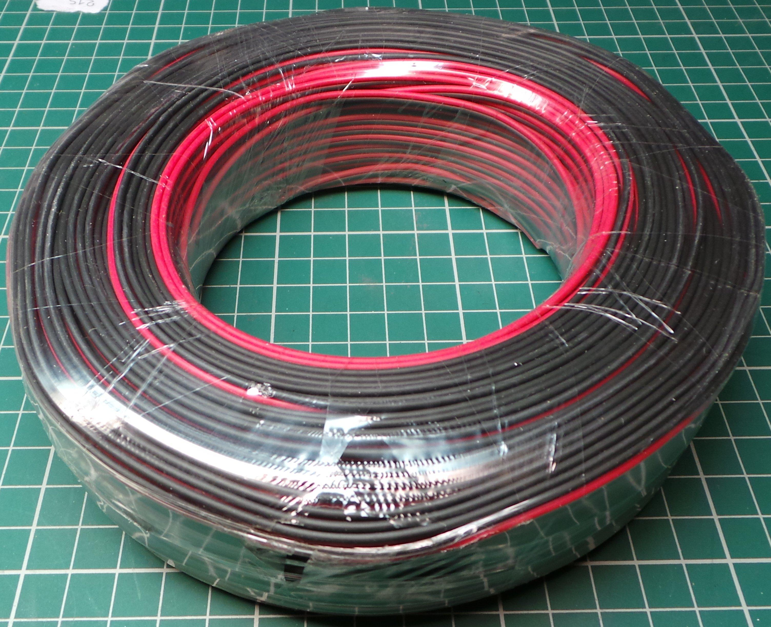 Wire, Paired, 0.12mm2, 28AWG, PVC, Red/Black - DSMCZ