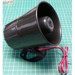 Siren, 10W, 110dB/m, 6-16V, 1A, 6 Tones