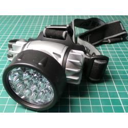 Headtorch, 20x LED, 3xAAA Battery, DC Fed - Ideal for Joule Thief Upgrade