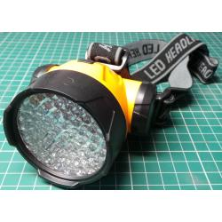 Headtorch, 58x LED, 3xAA Battery, DC Fed - Ideal for Joule Thief Upgrade