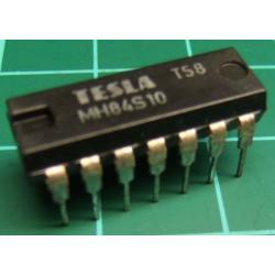 7410, MH84S10 (Hi Spec 74S10), TESLA, triple 3-input NAND gate