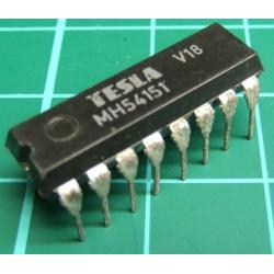74151, MH54151 (Mil Spec 74151), TESLA, 8-line to 1-line data selector/multiplexer