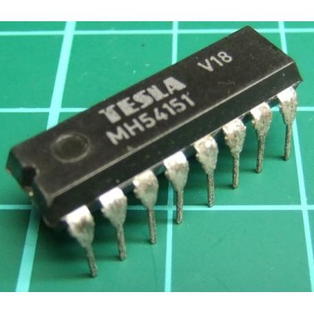 MH54151 (Mil Spec 74151), TESLA, 8-line to 1-line data selector/multiplexer