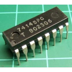 74145, 74145PC, BCD to decimal decoder/driver
