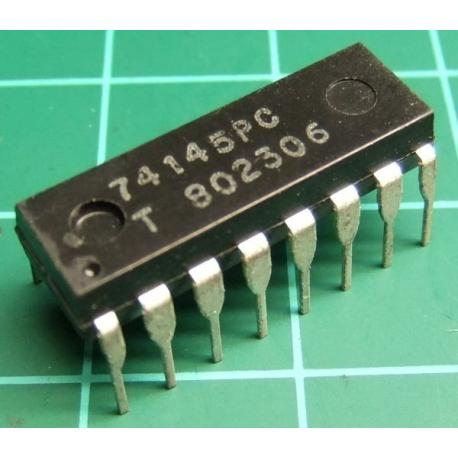 74145PC, BCD to decimal decoder/driver