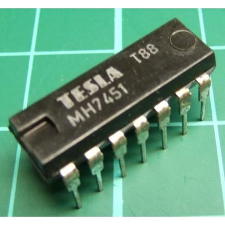 MH7451, TESLA, dual 2-wide 2-input AND-OR-invert gate