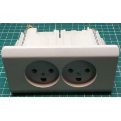 Double Danish mains socket