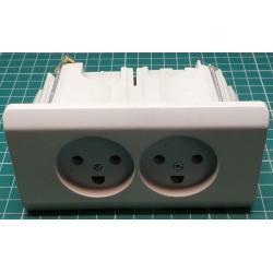 Double Danish mains socket