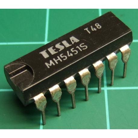 MH5451S (Mil Spec 7451S), TESLA, dual 2-wide 2-input AND-OR-invert gate