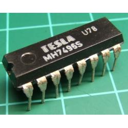 7496, MH7496S, TESLA, 5-bit parallel-In/parallel-out shift register, asynchronous preset