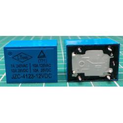 Relay, SPDT, 12V, 10A@28VDC, 7A@240VAC, 22x17x15mm, HLS-T72