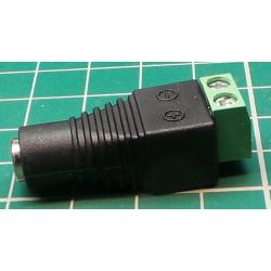 2.1 mm PSU Connector, Male - Screw Terminals