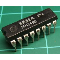 7496, MH5496 (Mil Spec 7496), TESLA, 5-bit parallel-In/parallel-out shift register, asynchronous preset
