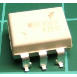 MOC3063, SMT, Optotriac, 5.3kV, Uout:600V, zero voltage crossing driver