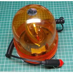 Orange warning beacon magnetic 12V