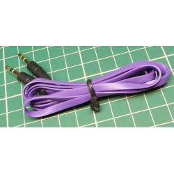 Purple, 3.5mm Stereo Jack Plug to 3.5mm Stereo Jack Socket, 1m