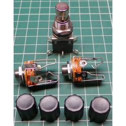 Guitar Fuzz Kit - Stomp Switch, Jacks and Knobs