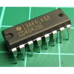 4042, CMOS, 4042, 4 Channel Latch